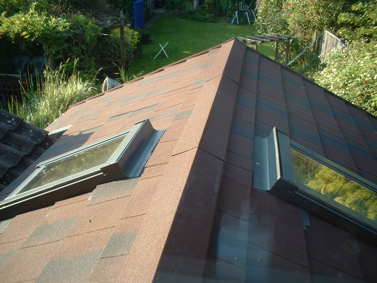 roof window in tiled roof